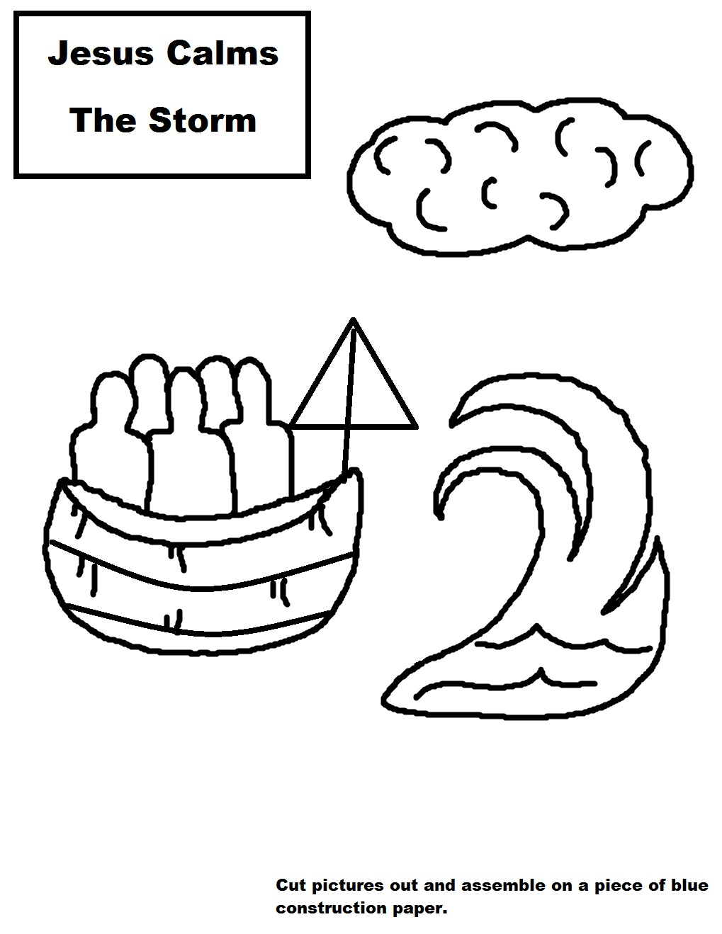 Coloring Pages For Jesus Calms The Storm : Jesus Calms The Storm Sunday School Lesson