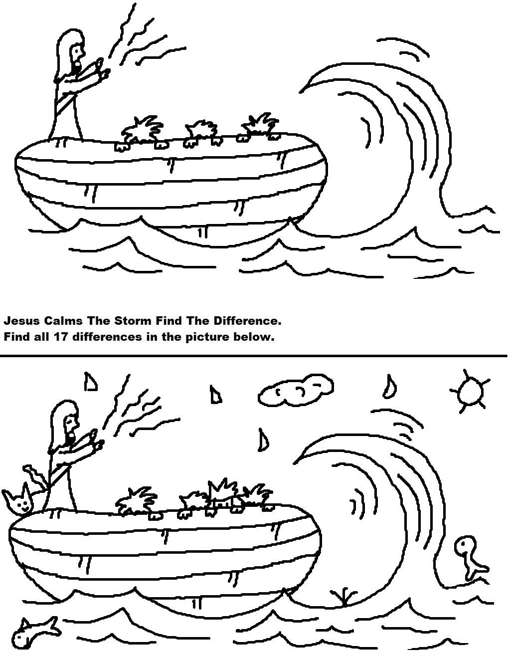 jesus calms the storm sunday lesson
