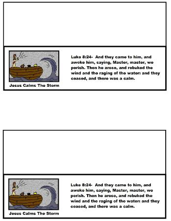 Jesus Calms The Storm Sunday School Lesson Plan for Kids by Church House Collection© Free printable snack template