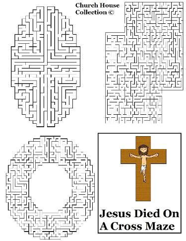 Jesus Died on a cross maze
