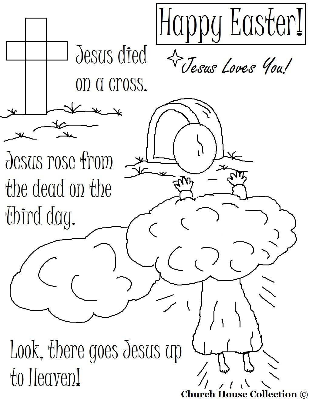 Free Printable Easter Coloring Pages For Sunday School Free ...
