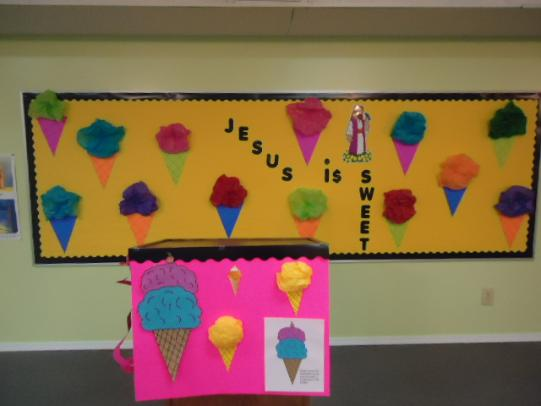 Ice Cream Cone Jesus Is Sweet Bulletin Board Idea
