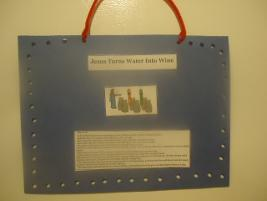 Jesus Turns Water Into Wine Craft Wall Hanging
