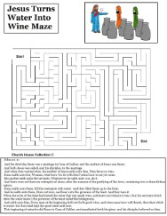 Jesus Turns Water Into Wine Maze