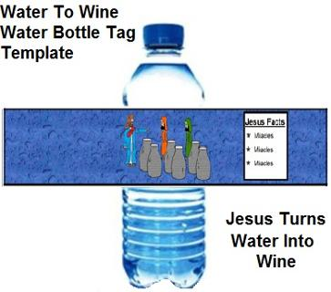 Jesus Turns Water Into Wine Water Bottle Template
