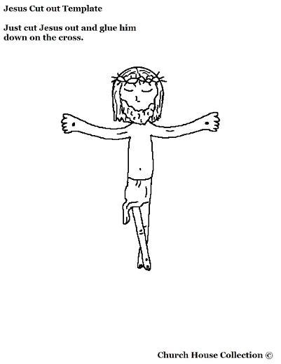 Jesus cutout craft