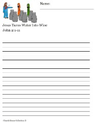 Jesus Turns Water Into Wine Writing Paper