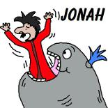 Jonah and The Whale Sunday School Bible Coloring Pages