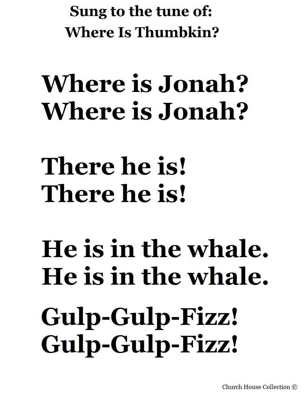 jonah and the whale songs