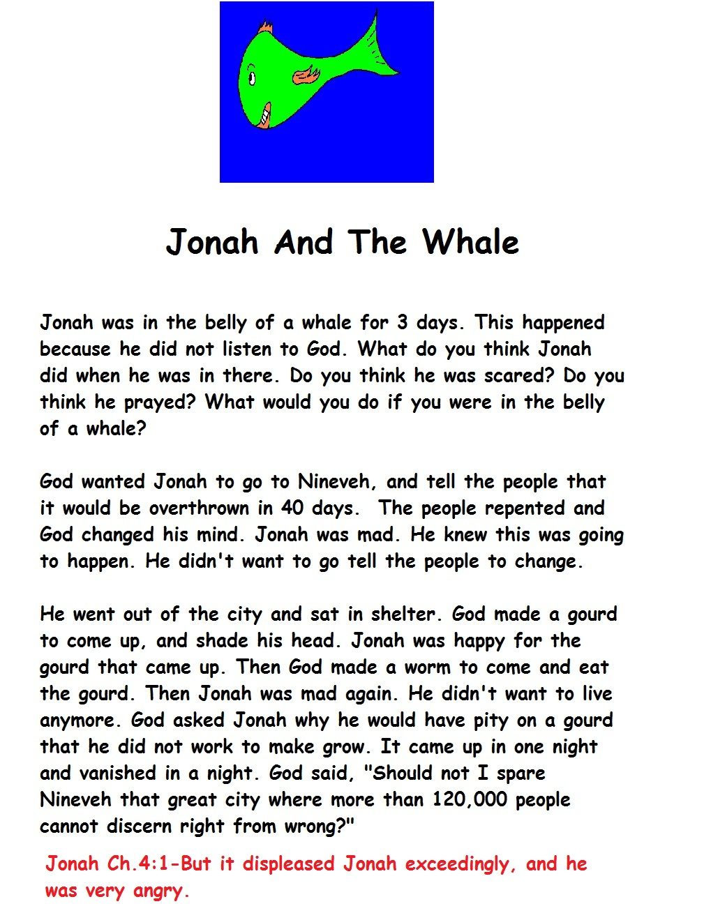 the story of jonah essay In the bible, one of the most famous tales of the old testament is that of jonah and the whale religion research papers from paper masters are always custom written.