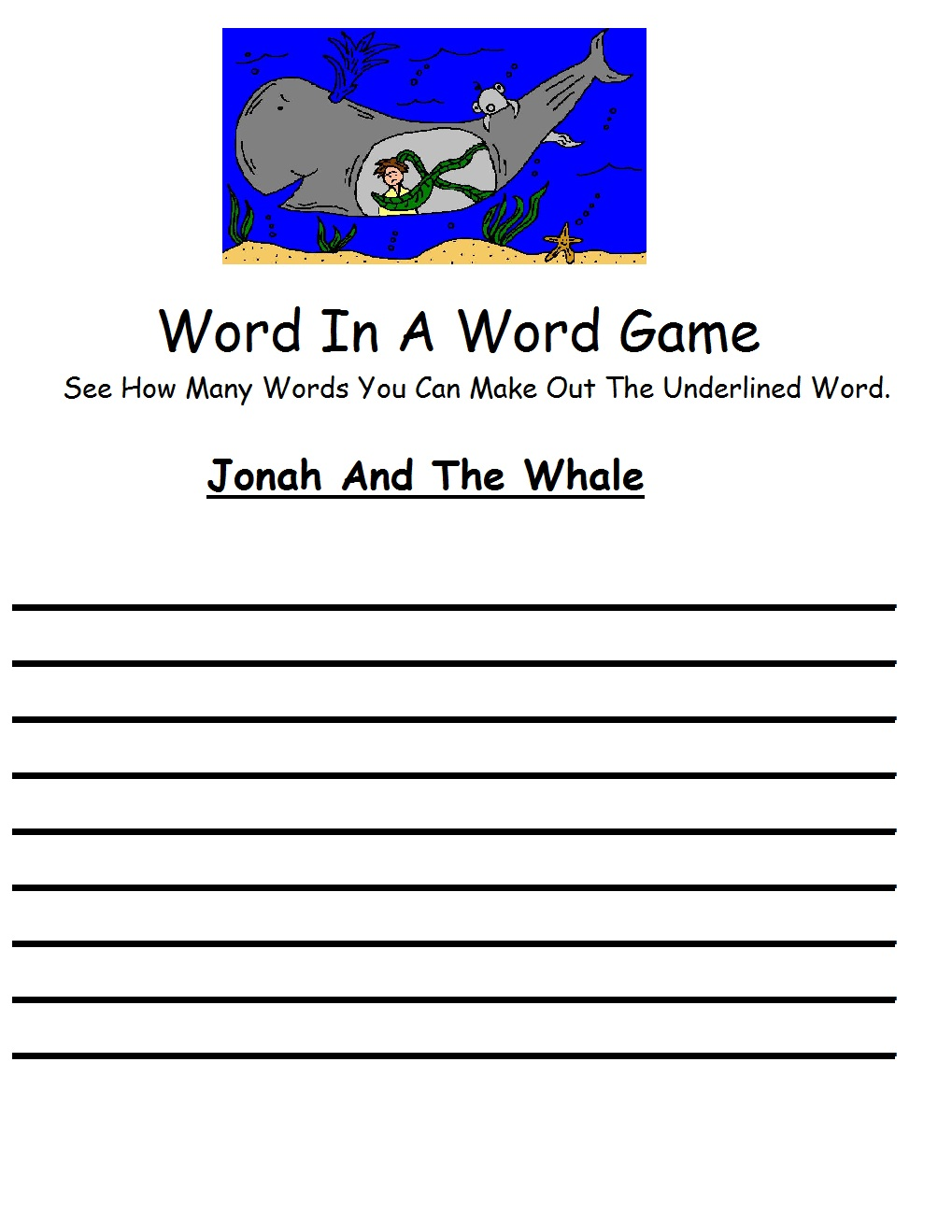 Printable coloring pages jonah and the whale - Printable Version