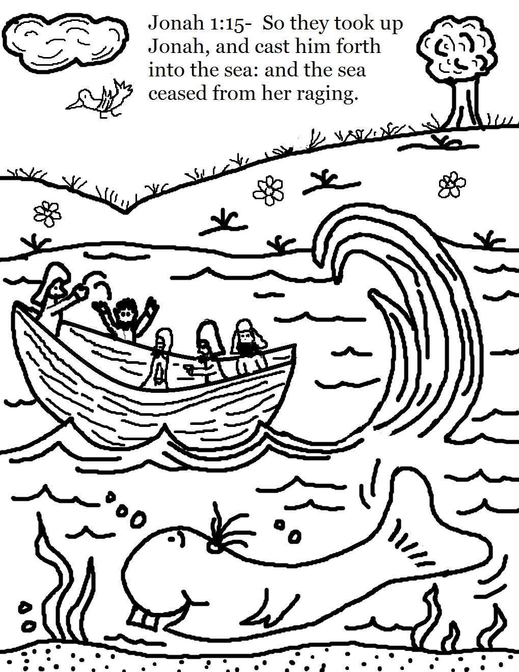 jonah and the whale kids coloring pages find this pin and more on