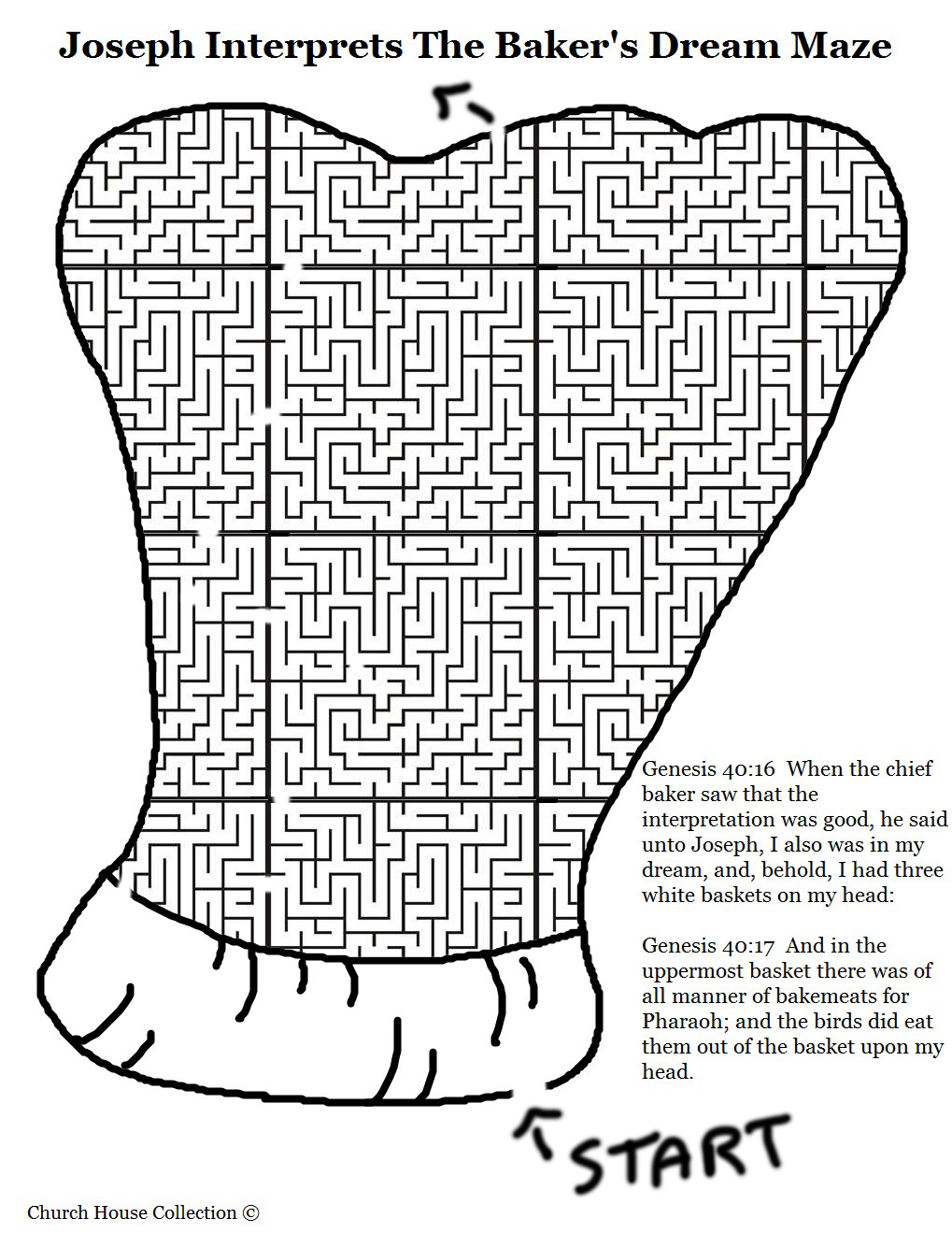 Use This Maze To Go Along With The Joseph Interprets Butler And Bakers Dreams Lesson