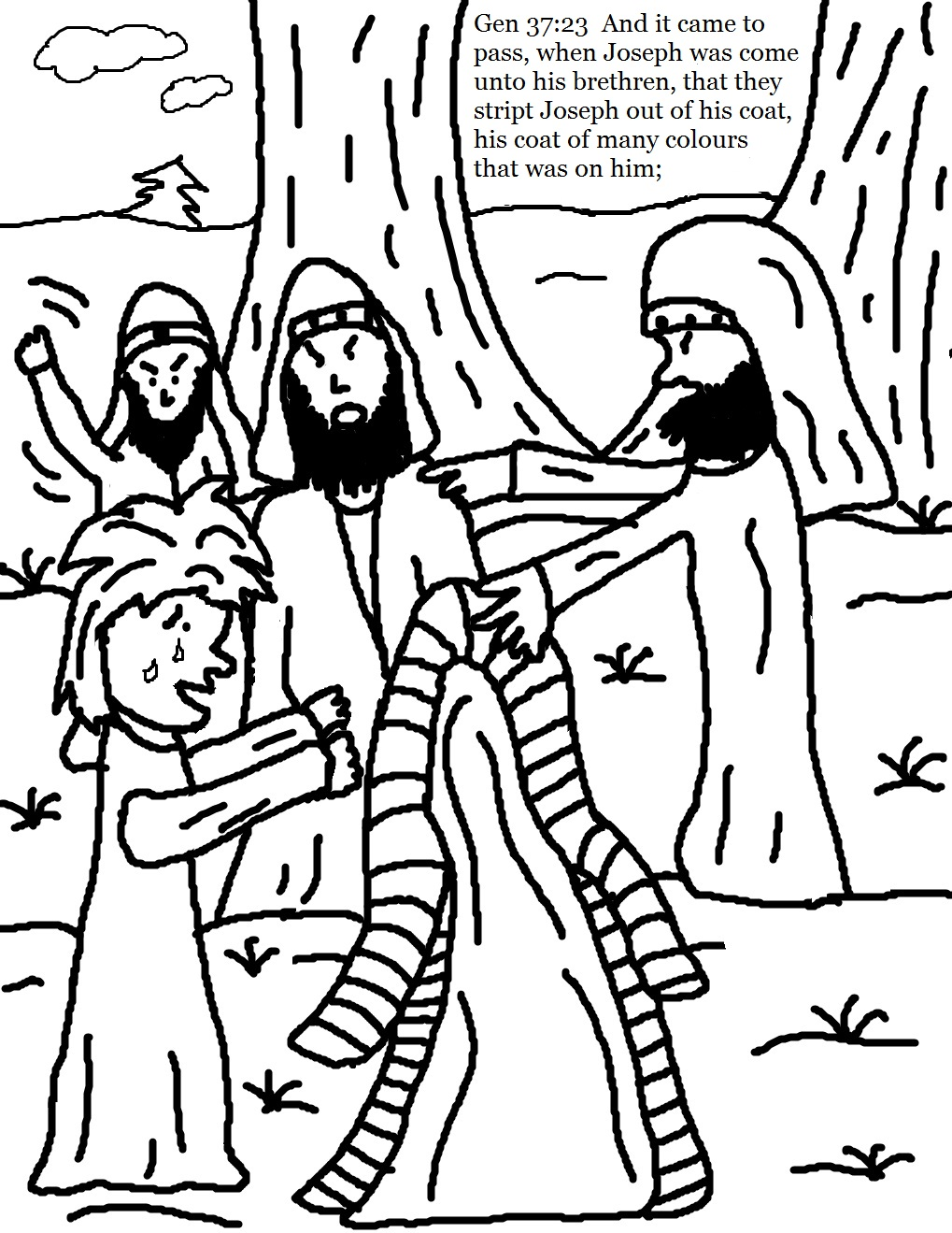 Many Colors Coloring Pages Josephs Coat Of