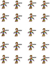 Josephs Coat of Many Colors Printable Stickers
