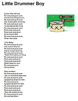 Little Drummer Boy Lyrics