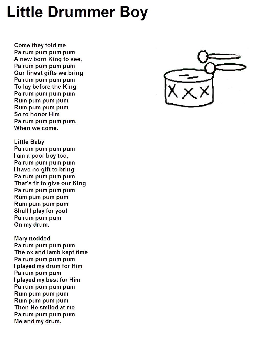 the little drummer boy coloring page - little drummer boy