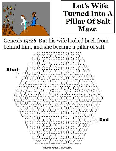 Lot's wife turned into a pillar of salt maze