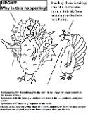 Mad Turkey Coloring Page With Scripture Sunday School