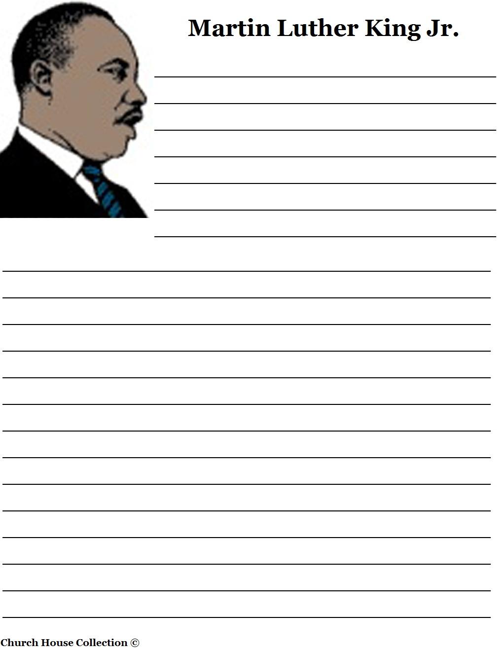 martin luther king jr writing paper martin luther king jr writing paper printable version