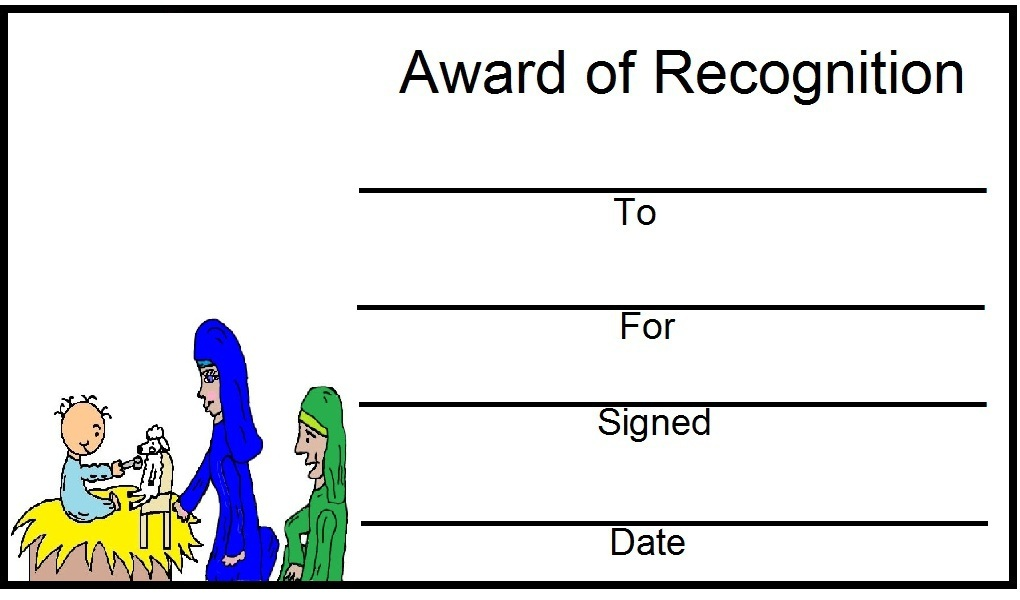 free printable bible award certificates