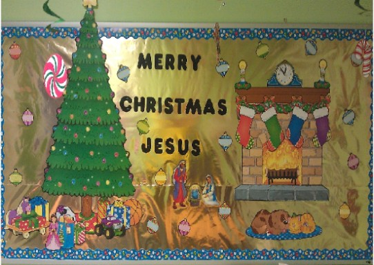 Merry Christmas Jesus Bulletin Board Idea