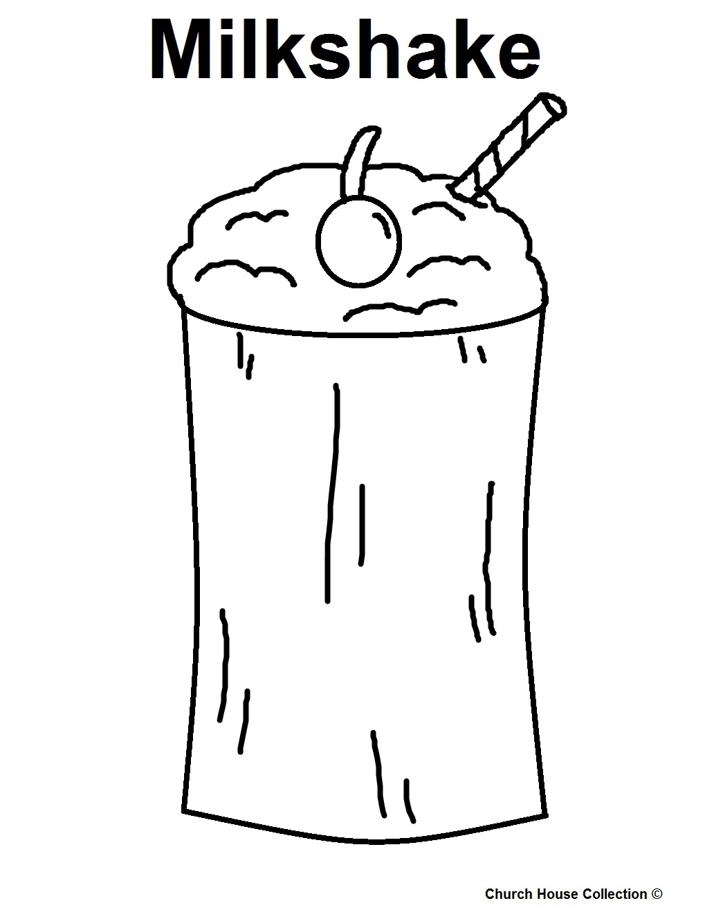 Food coloring pages for kids milk colouring page