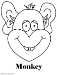 Monkey Coloring Pages- Animal Coloring Pages for kids