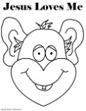 Jesus loves me coloring pages- Monkey coloring pages for kids