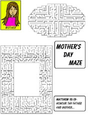 Mother's Day Maze for Kids