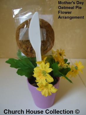Mother's Day Oatmeal Pie Flower Arrangement