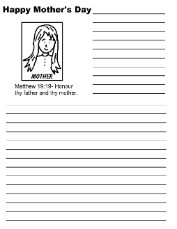 Mother's Day Printable Writing Paper For Kids