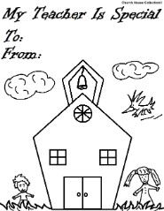 My Teacher Is Special School House Coloring Pages