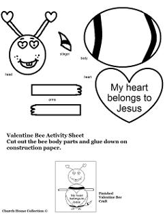 My heart belongs to Jesus Valentine Bee Activity Sheet