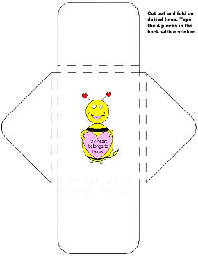 My heart belongs to Jesus valentine bee sucker holder template