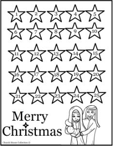 Nativity Advent Calendar Printable Christmas Adveny Calendars