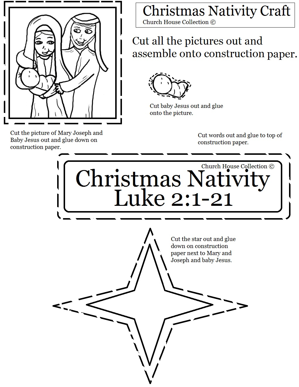 nativity cutout sheet