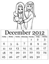 Printable Nativity Calendar Decebmer 2012