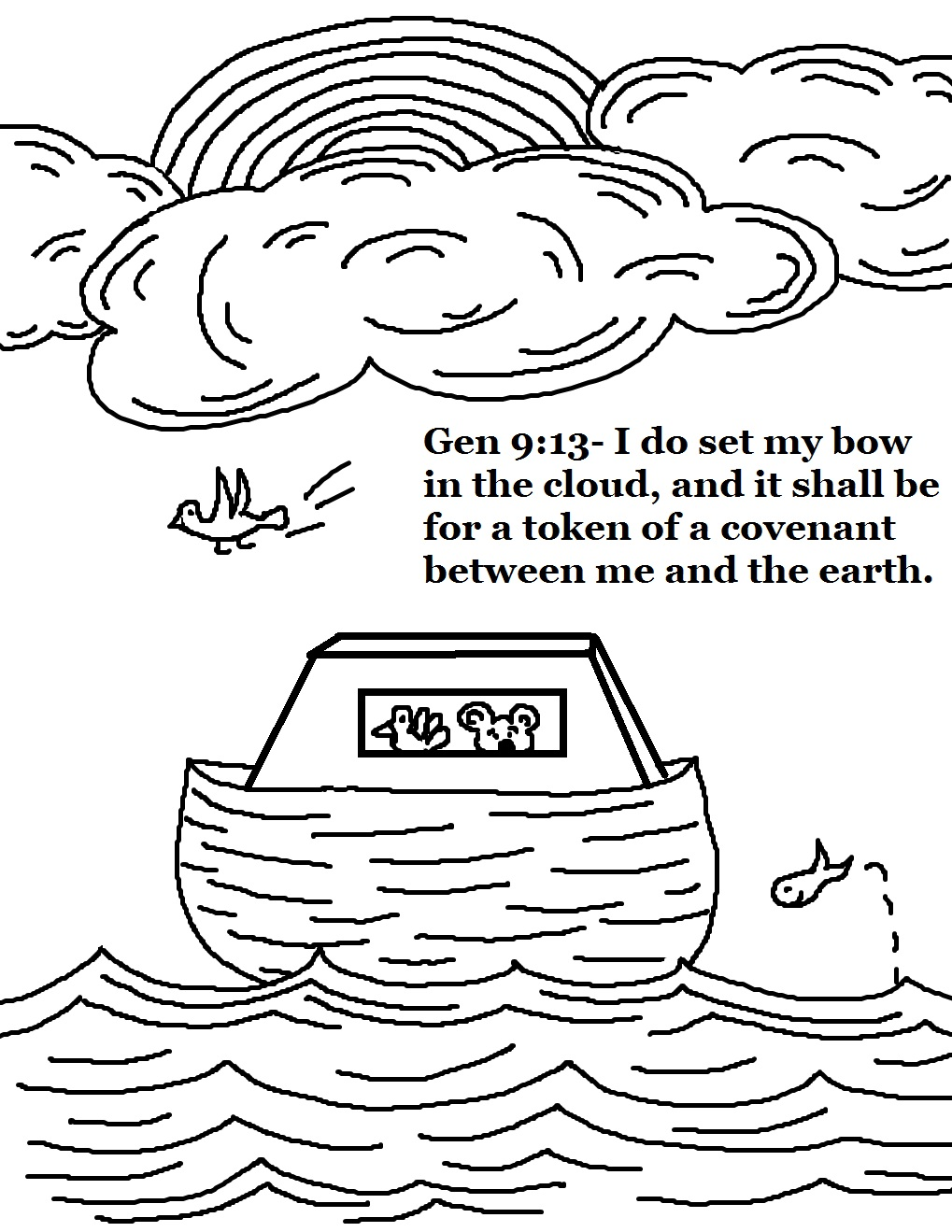 noah 39 s ark coloring pages