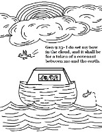 Noahs Ark Coloring Pages For Sunday School Kids Rainbow