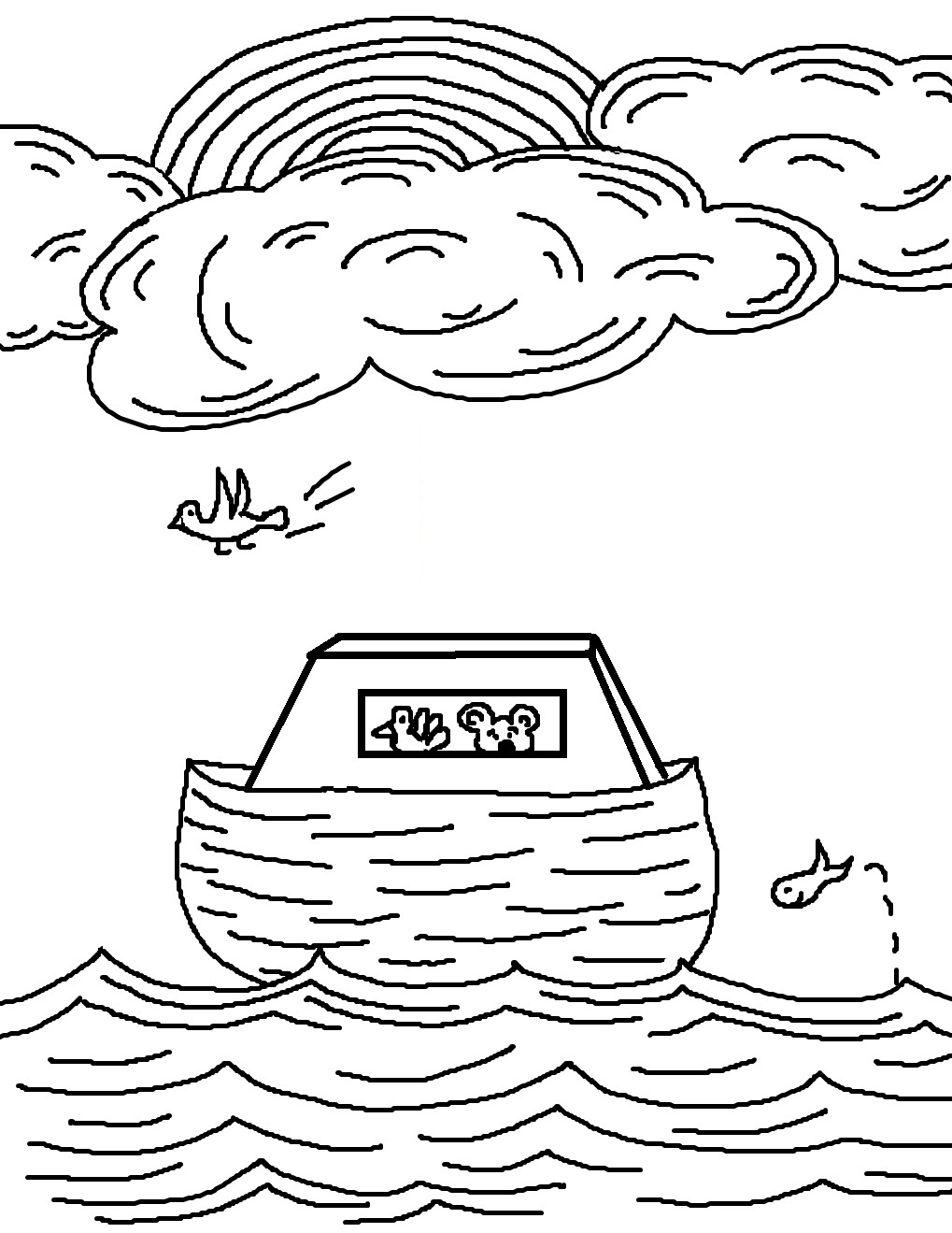 Noah's Ark Printable Coloring Pages New Coloring Pages Noah Ark ... | 1319x1019