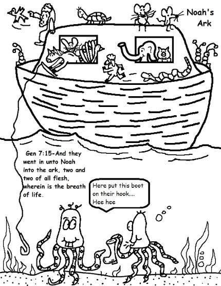 Free Noahs Ark Sunday School Lesson For Kids All Of Coloring Pages