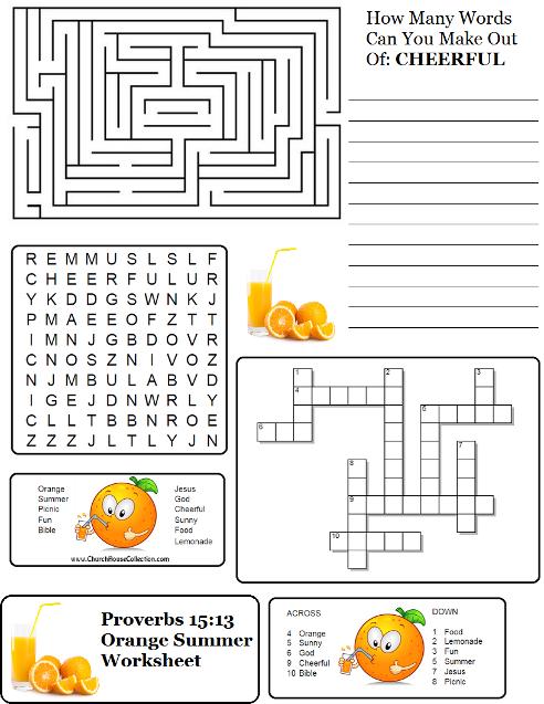 summer orange proverbs sunday school lesson. Black Bedroom Furniture Sets. Home Design Ideas