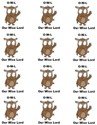 OWL Our wise Lord Printable Stickers