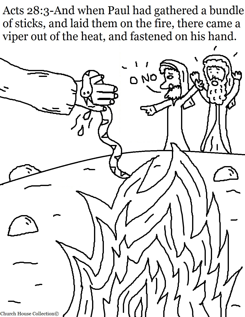 Sunday School Coloring Pages Paul