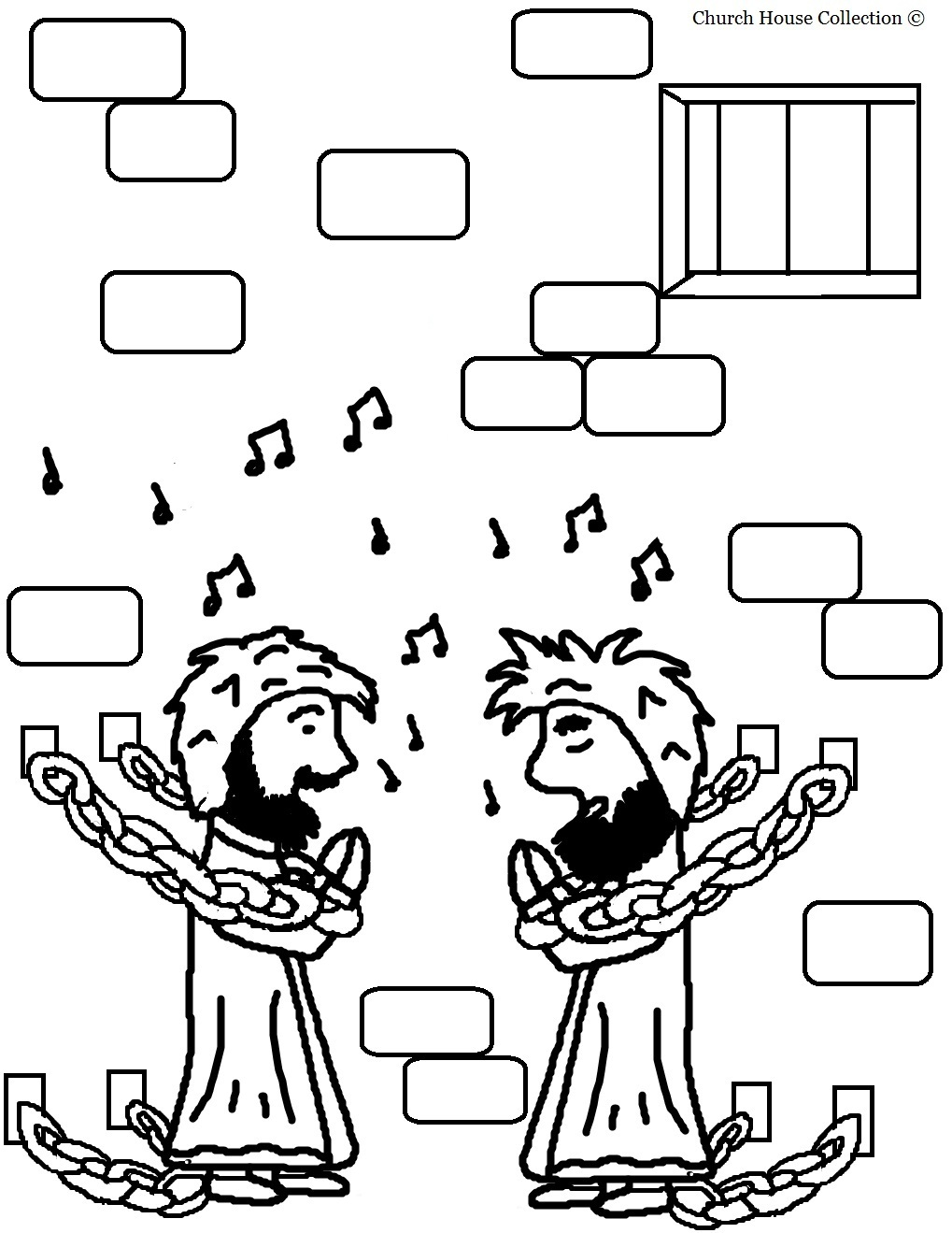 Paulo and silas coloring pages ~ Paul And Silas Coloring Pages