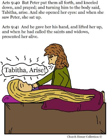 Peter Raises Tabitha From The Dead Coloring Page