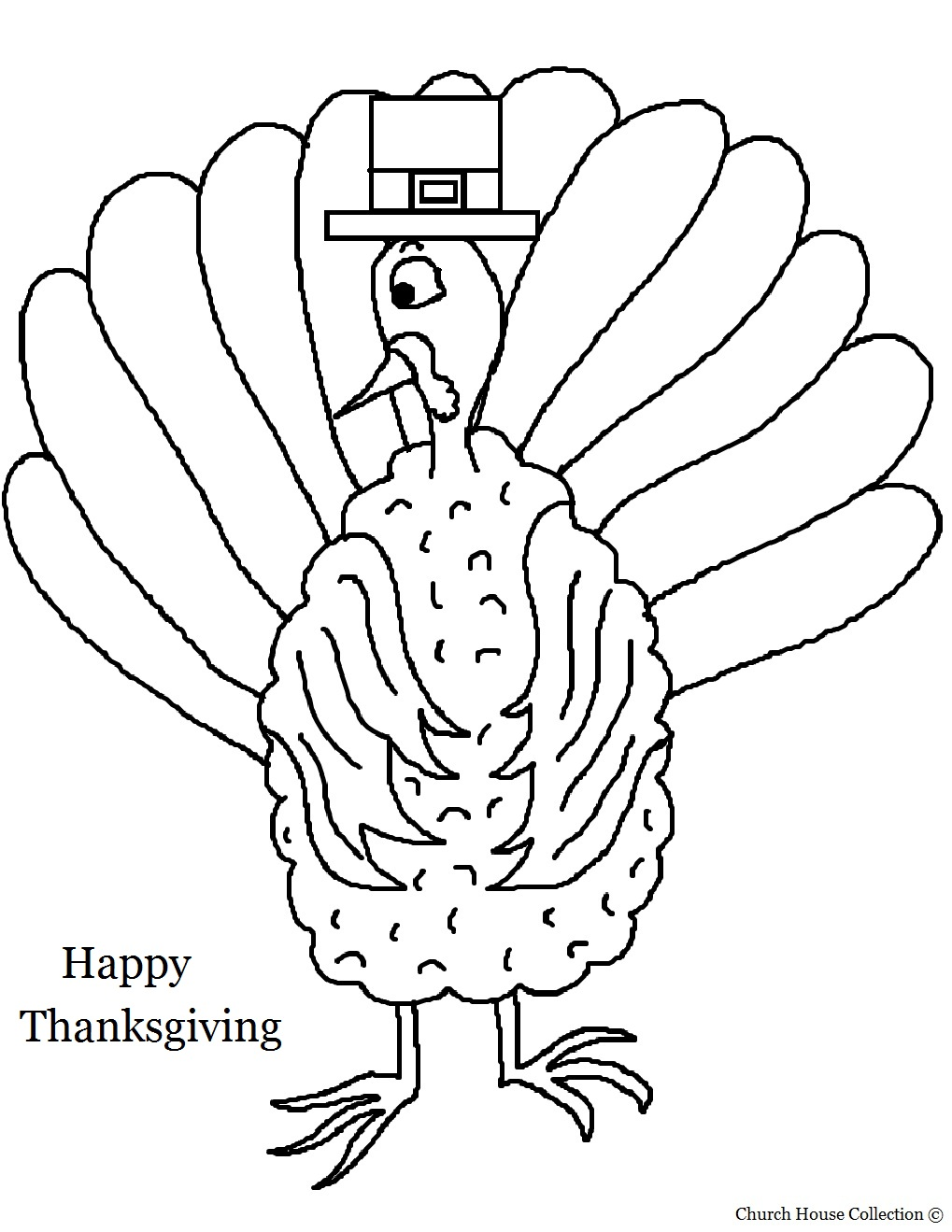 thanksgiving coloring pages church - happy thanksgiving day turkey coloring page