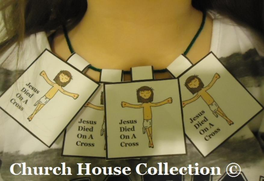 Printable Jesus Died on the cross necklace