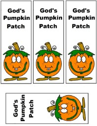 Pumpkin Sunday school lesson Gods pumpkin patch bookmark printable